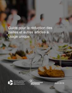 Guide pour la rédution des pailles et autres plastiques à usage unique
